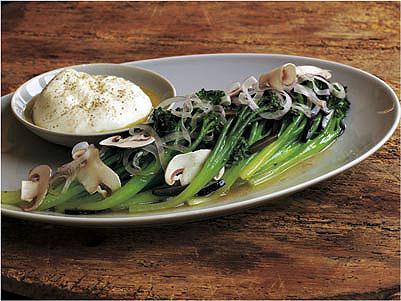 Broccolini Salad with Burrata Cheese
